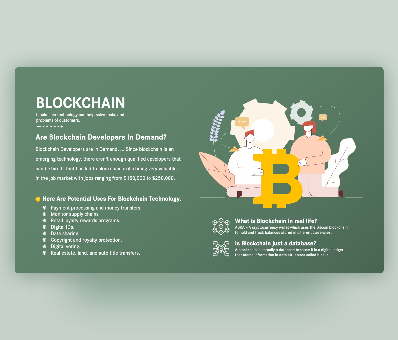 Blockchain Technology Overview PowerPoint Template