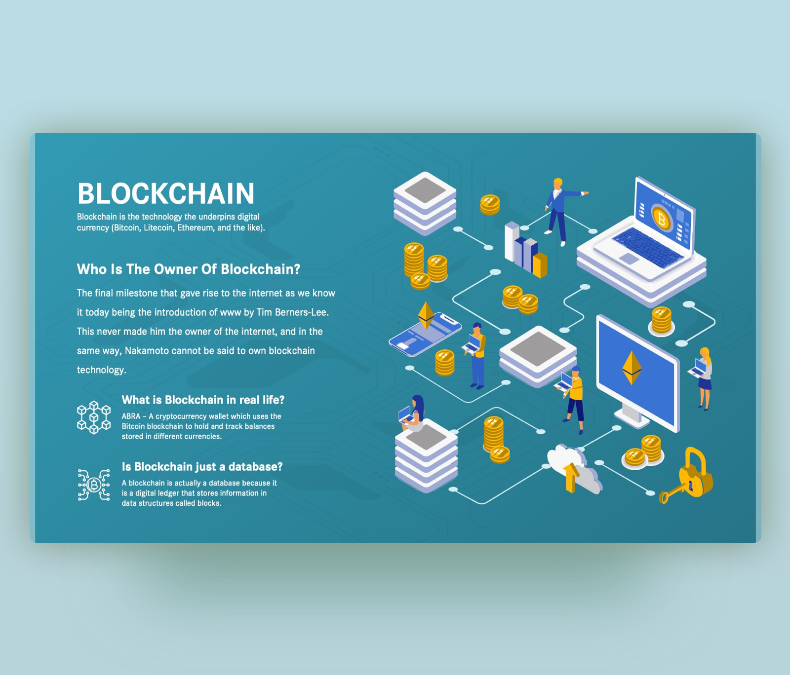 What is the Blockchain & How Does it Work | PPT Template