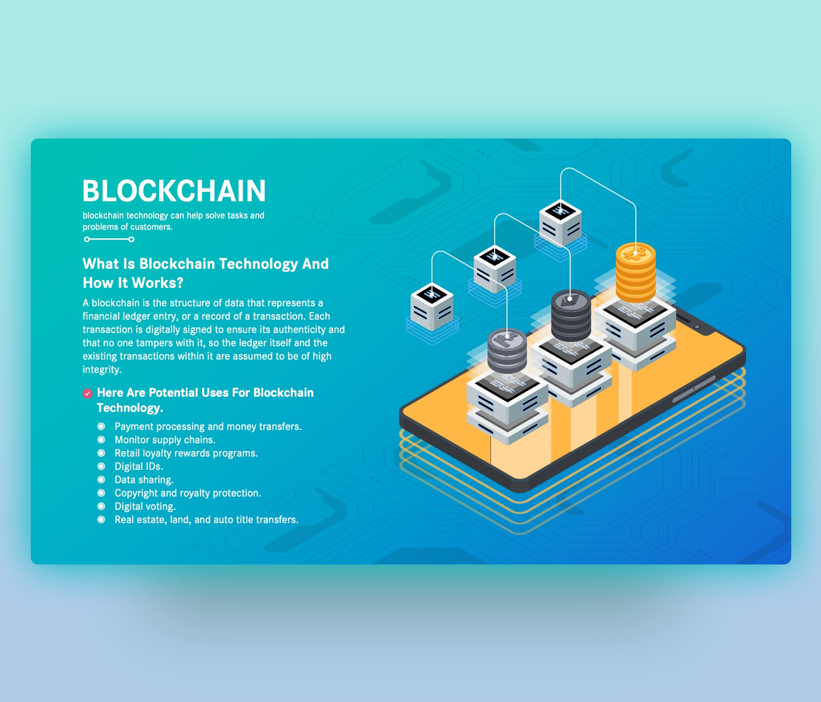 Blockchain Technology Explanation PPT - Quick Guide