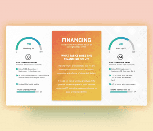 ICO Financial Dashboard PowerPoint Template