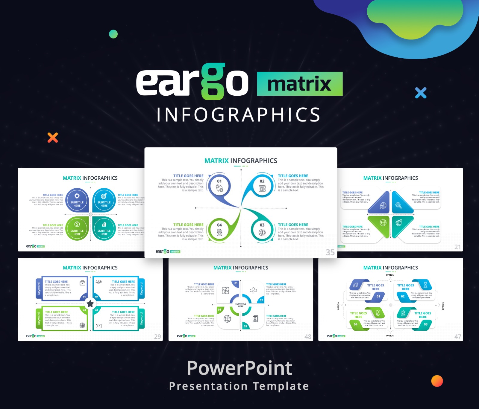 Eargo Matrix Infographics PowerPoint PPT presentation Template