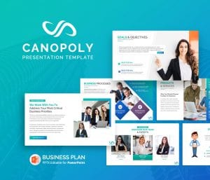 Canoply Business Plan PowerPoint Presentation Template