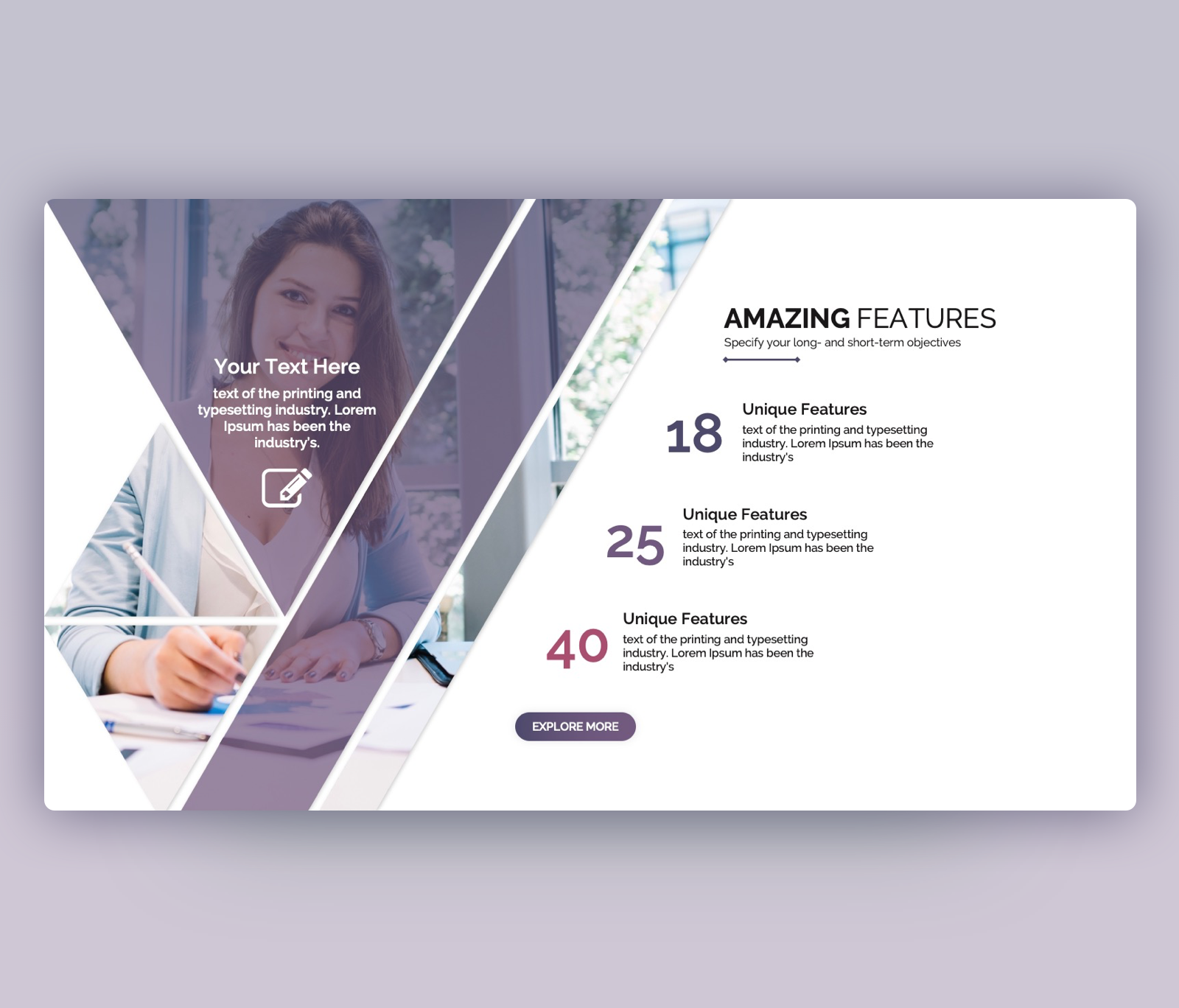 Amazing Features – Product Features PowerPoint Template