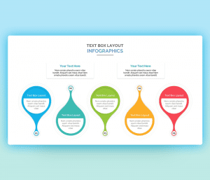 Amazing Infographics text boxes Layouts PPT
