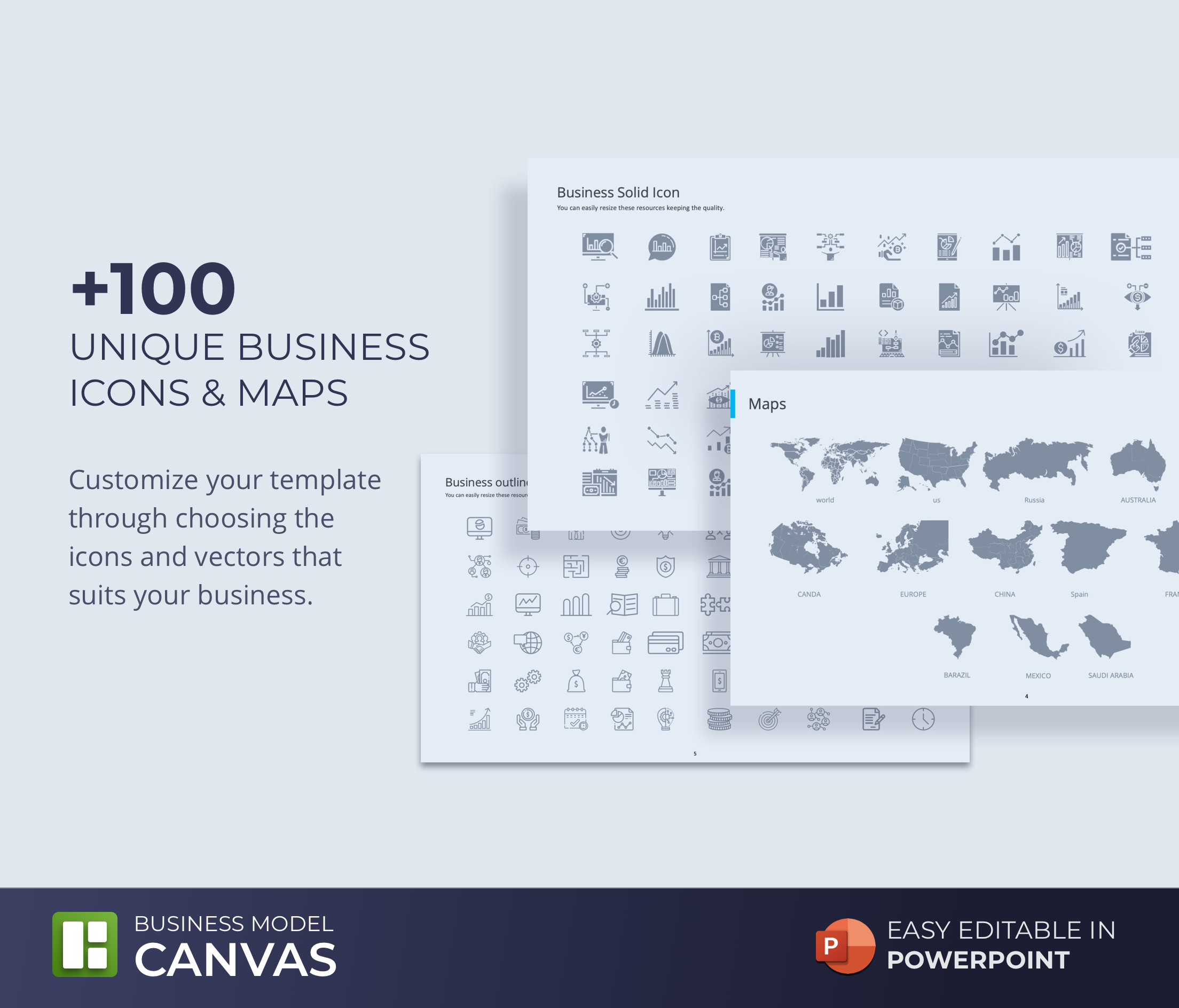 Business Model Canvas PowerPoint Template