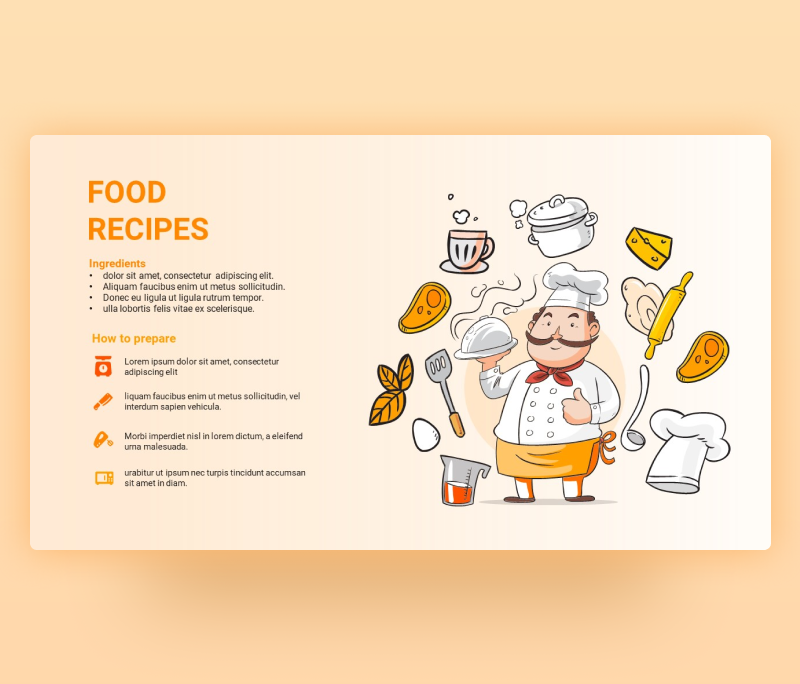 Food Recipe PowerPoint Template Free Download PPT
