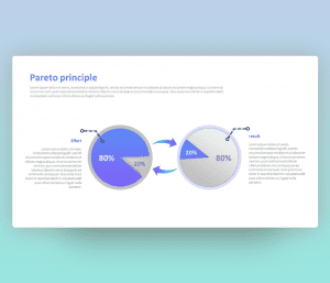 Pareto Principle Circular Infographic PowerPoint Template
