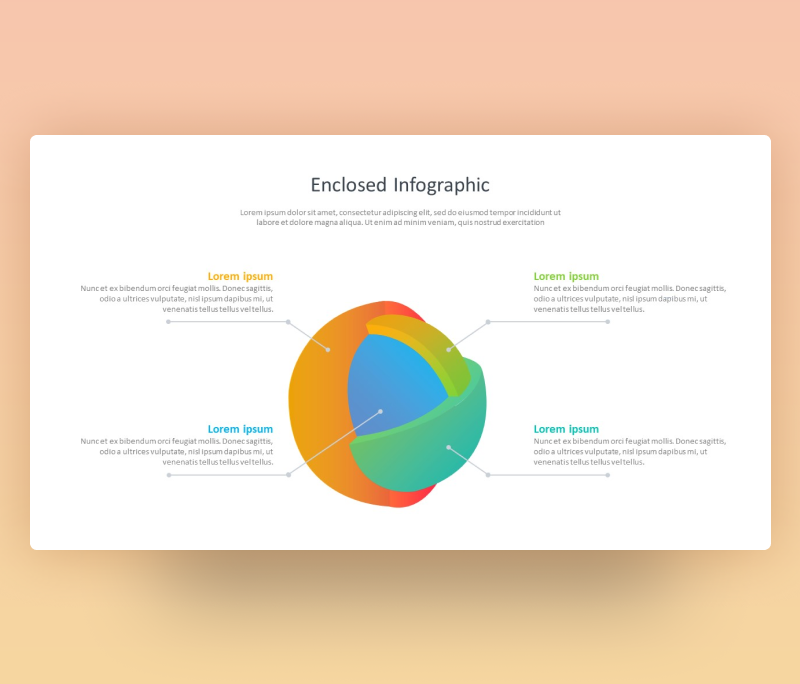 3D Enclosed Infographic Template- Free SmartArt PPT