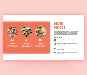 Menu Prices PowerPoint Template PPT Download