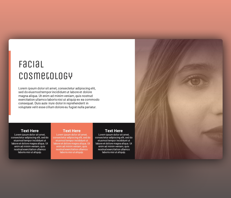 Facial Cosmetology – Cosmetics PowerPoint Templates