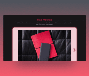 Outline iPad mockup powerpoint template