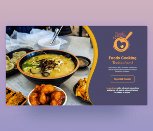Foods Cooking PowerPoint Template PPT Download