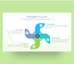 Convergent Infographic PPT Template Free Download