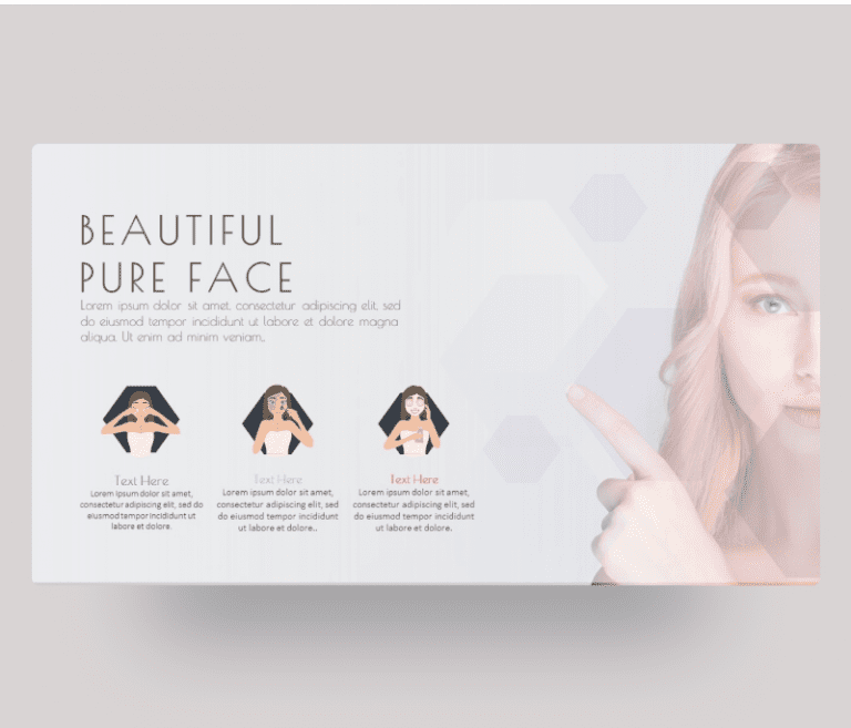 Beautiful Face – Beauty and Skin Care PowerPoint Template