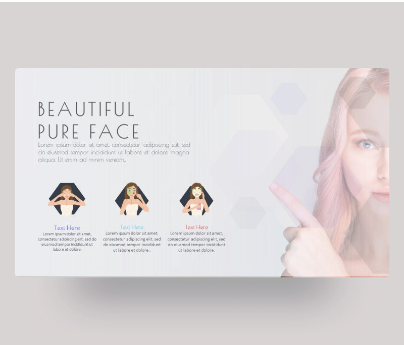Beautiful Face – Beauty & Skin Care PowerPoint Template