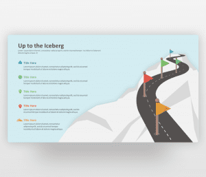Up to the Iceberg – Roadmap PowerPoint Template
