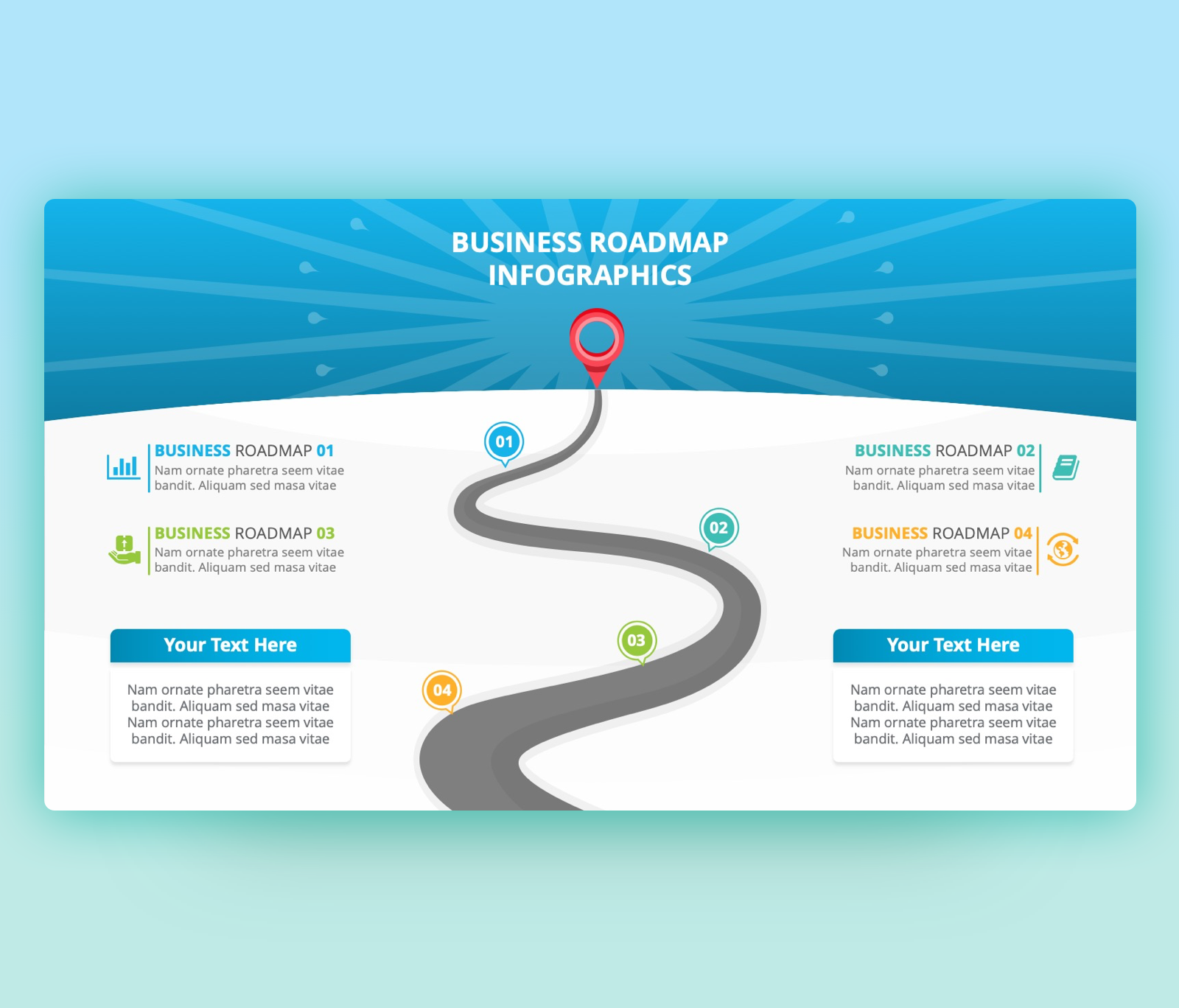Business Roadmap PowerPoint Template Free