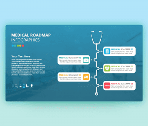 Medical Roadmap Infographic PowerPoint Template