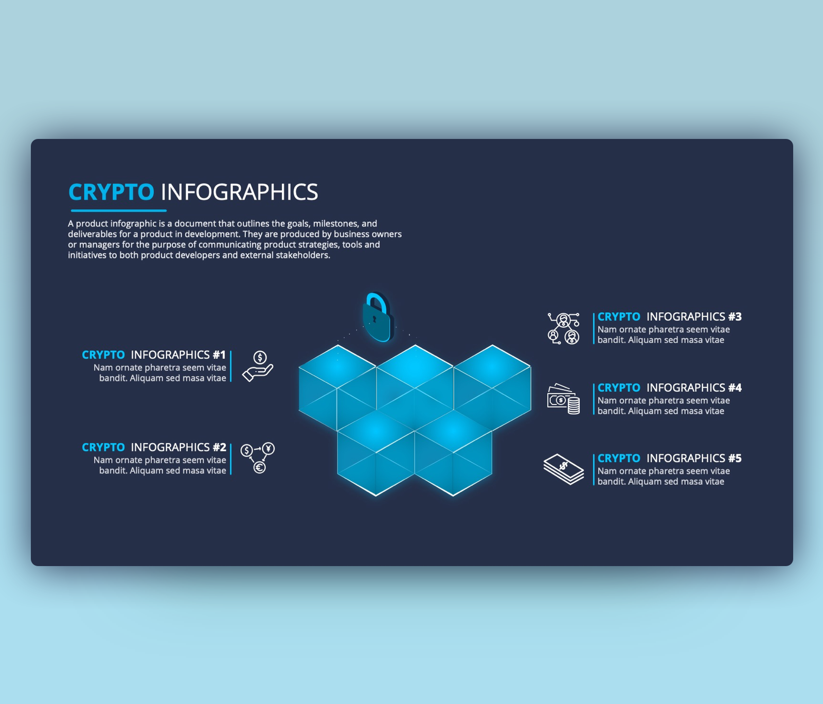 Blockchain Infographic PowerPoint Template Free PPT