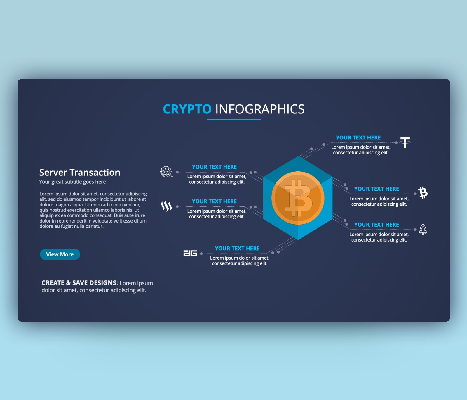 Bitcoin Transaction Infographic PowerPoint Template