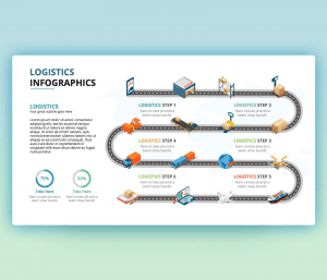 Logistic Infographic PowerPoint Slide Template