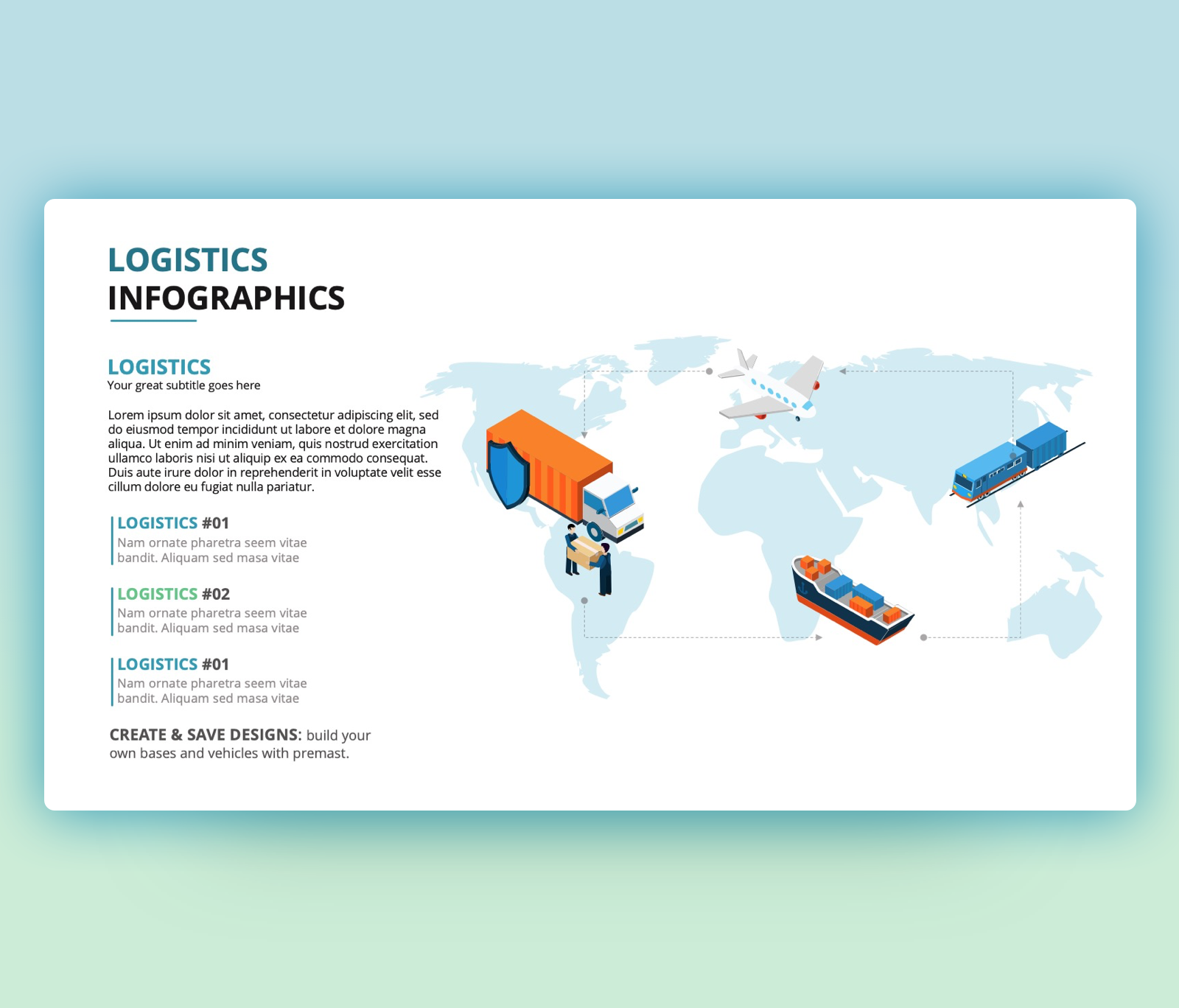 Logistic PPT – Infographic PowerPoint Template