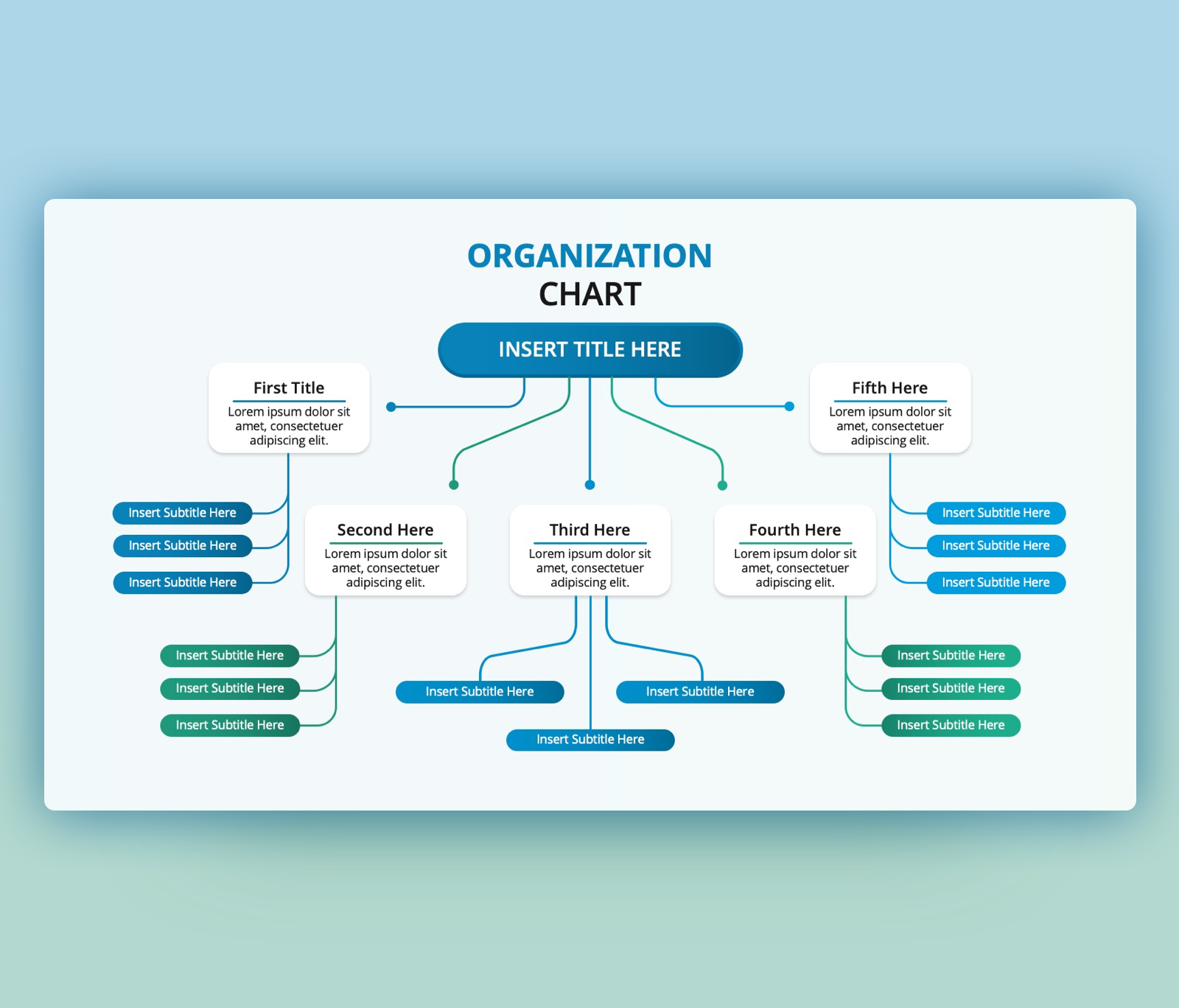 Free Organization Chart PowerPoint Template