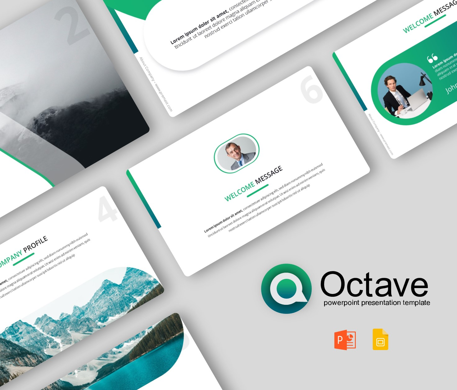 Octave – Business Plan PowerPoint Template