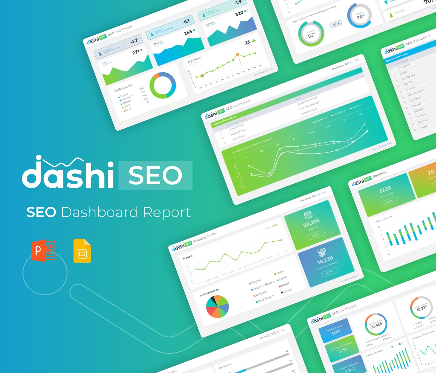 SEO Report - Dashboard PowerPoint Template