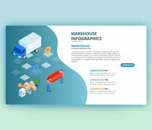 Warehouse PPT – Infographics PowerPoint Template
