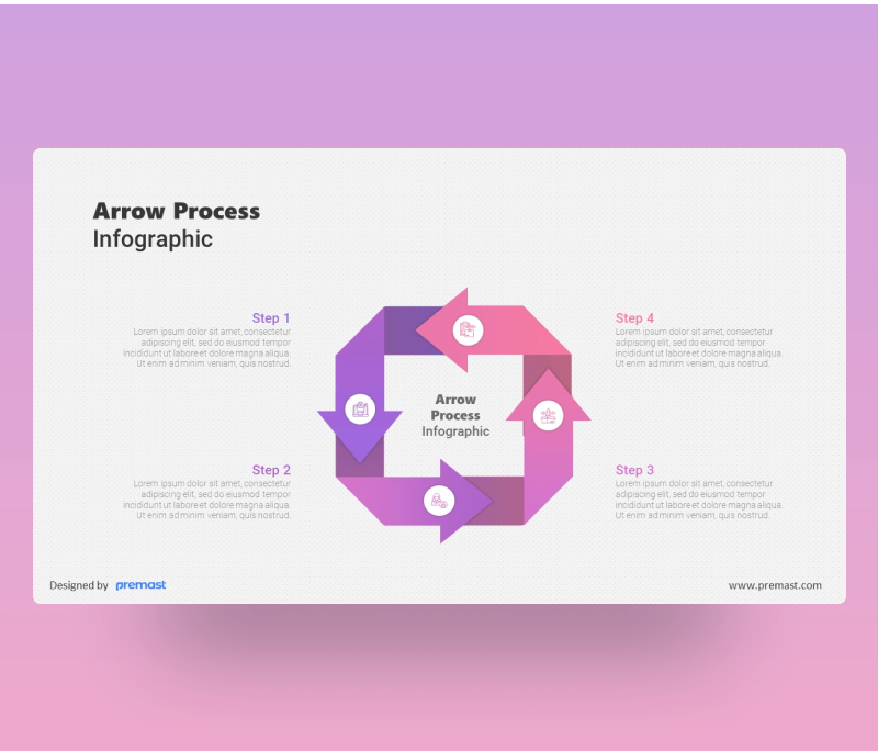 4 Arrow Process Infographic PowerPoint PPT
