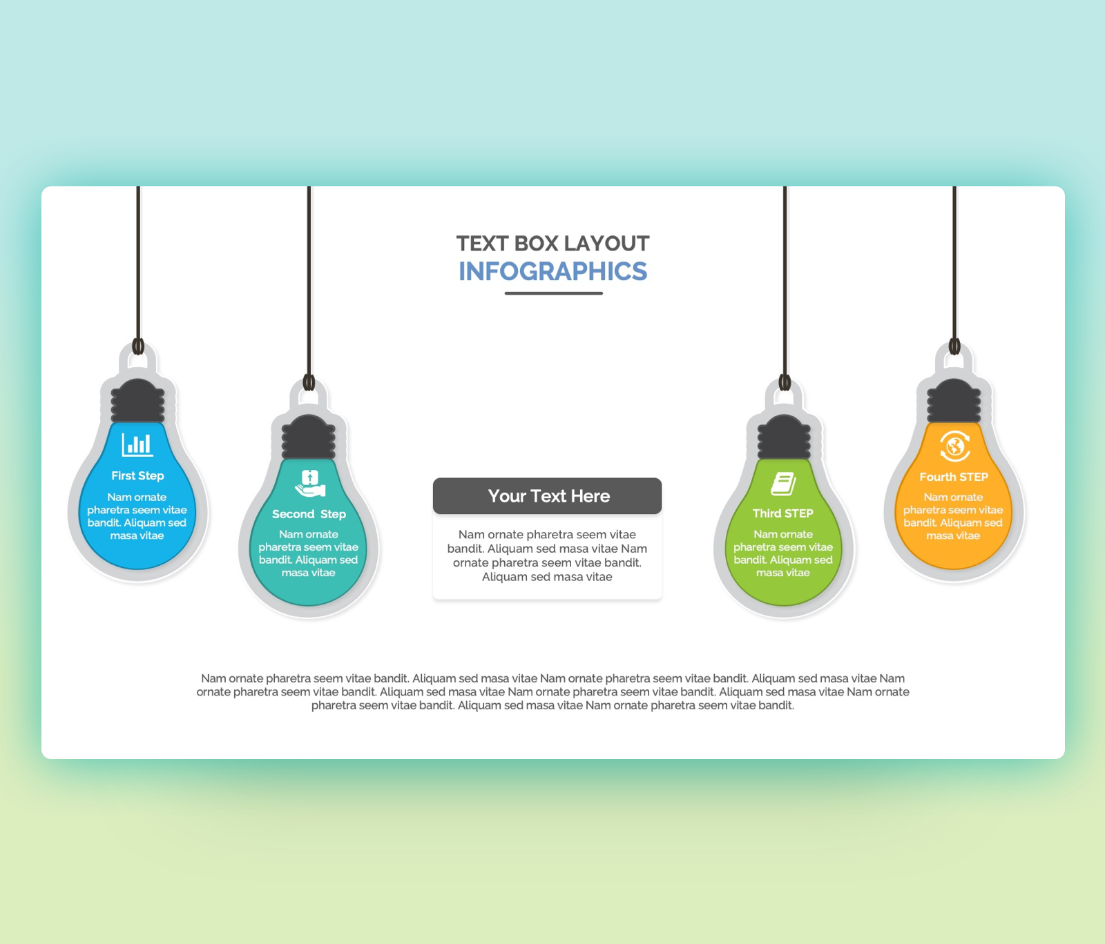 Lamp Text Boxes PPT Templates Free Download