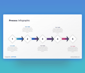 5 arrows horizontal process infographic