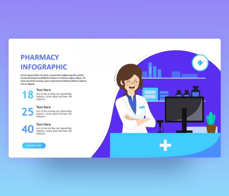 Pharmacy Infographic PowerPoint Template – Free PPT