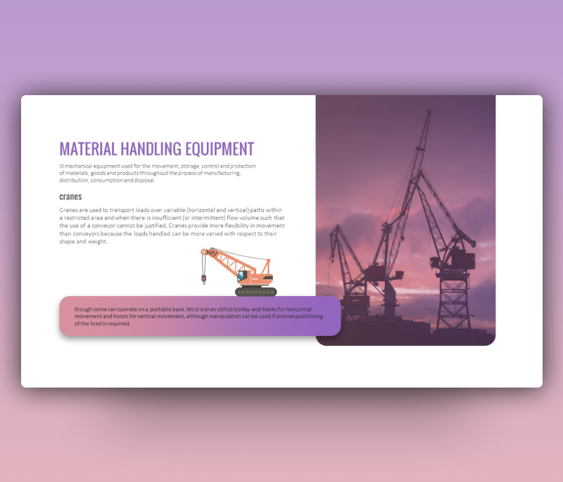 Material Handling Equipment PowerPoint (Free PPT)