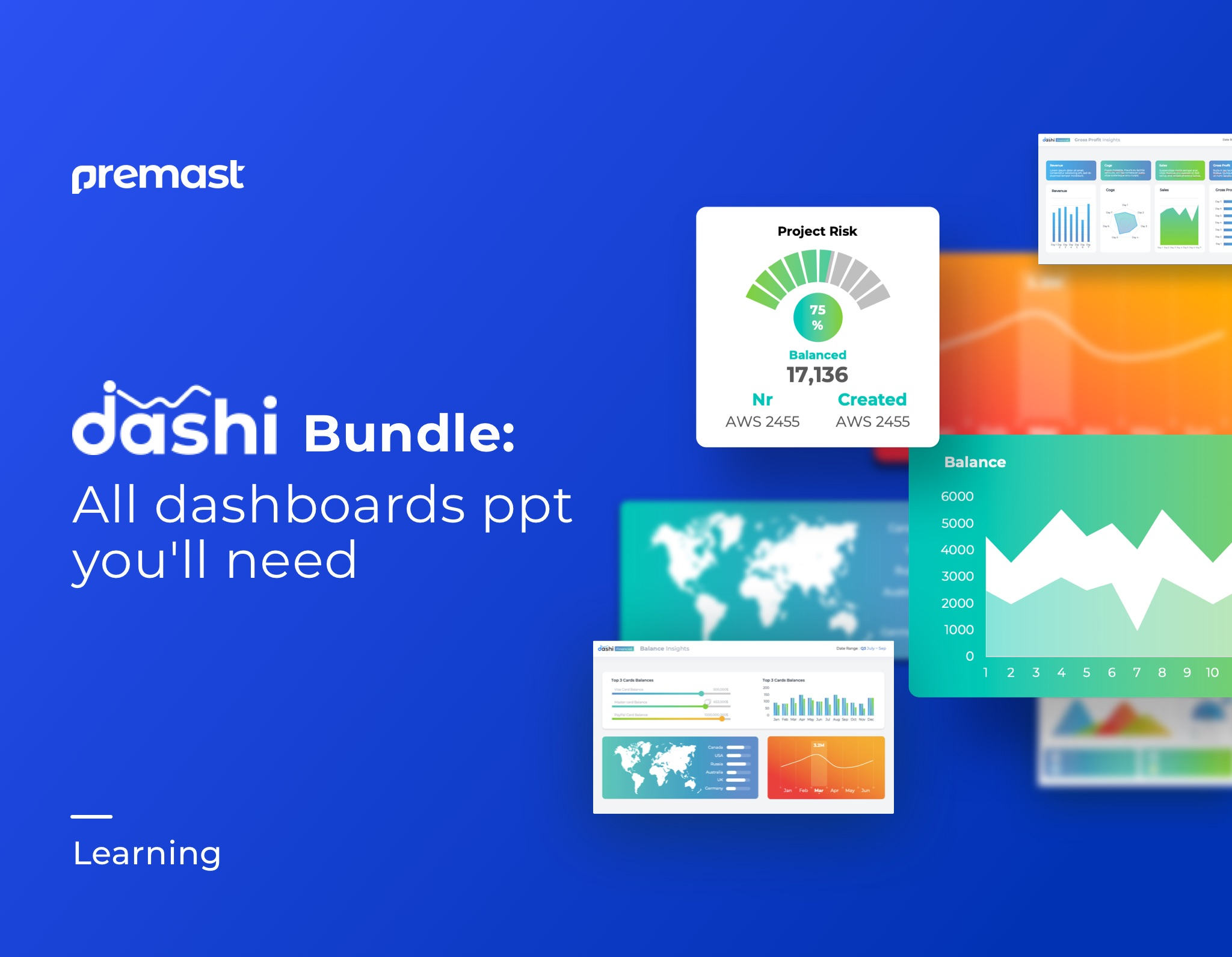 Dashi Bundle: Top Dashboard PPT Templates pack