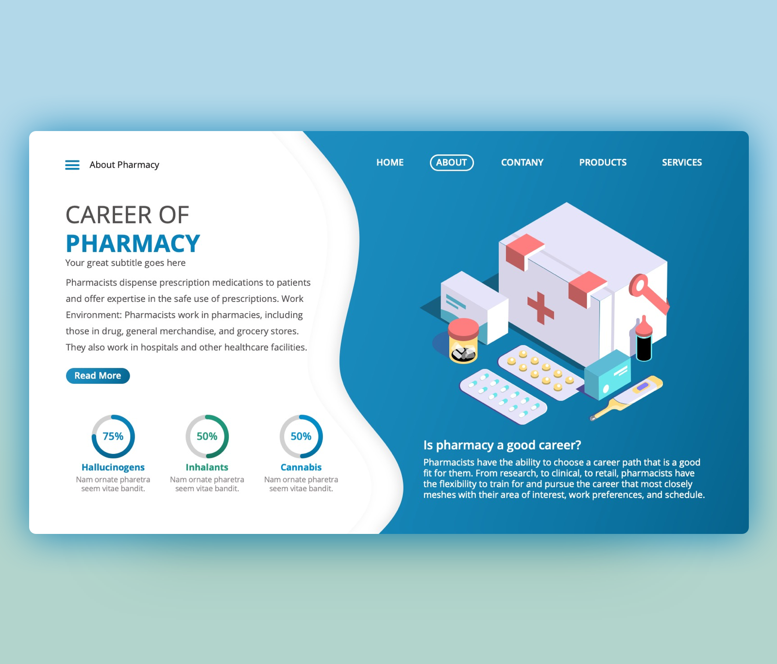 Career of Pharmacy – Free Medical PowerPoint Template