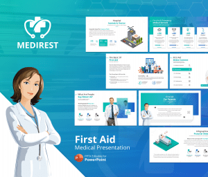 Medirest – First Aid PowerPoint Presentation Template
