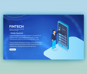 Using Fintech in Mobile Payments PowerPoint Template