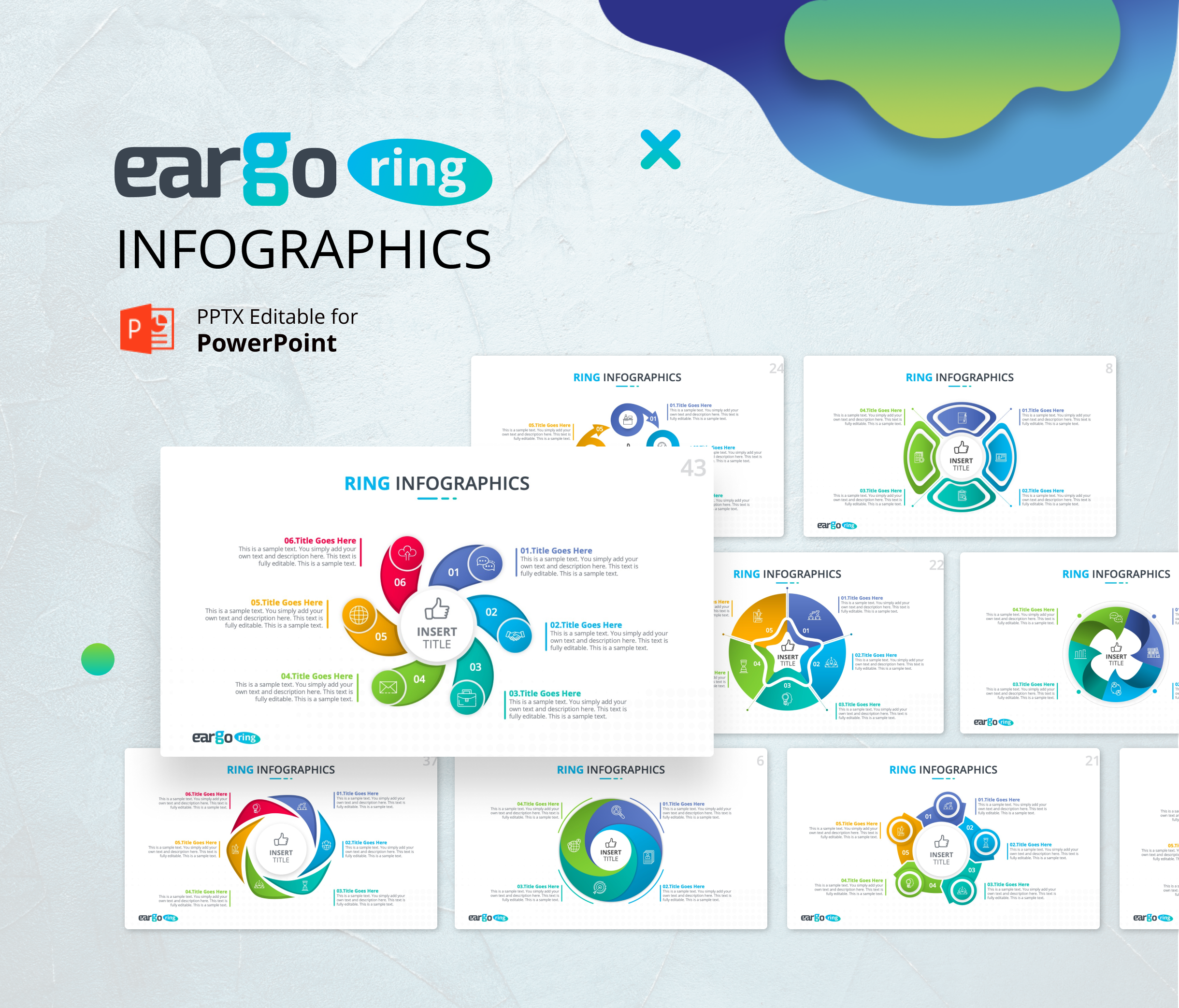 Eargo Ring – Circular Infographics PPT Templates