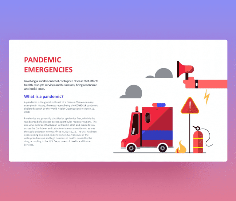 Pandemic Emergency PowerPoint PPT Template