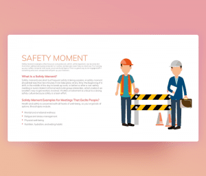 Safety Moment in the Workplace PowerPoint Template