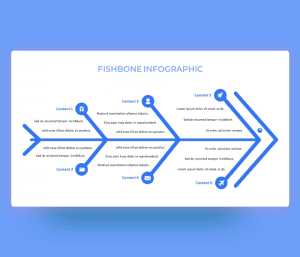 Fishbone Diagram Infographic PowerPoint Template