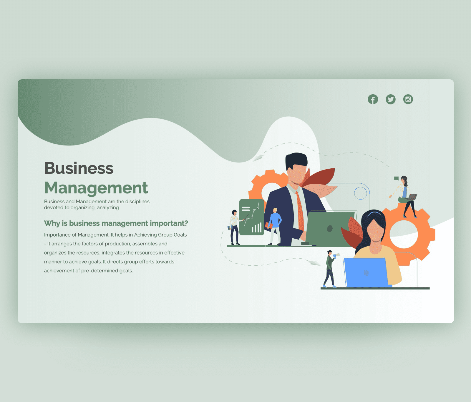 Business Management PowerPoint PPT Template