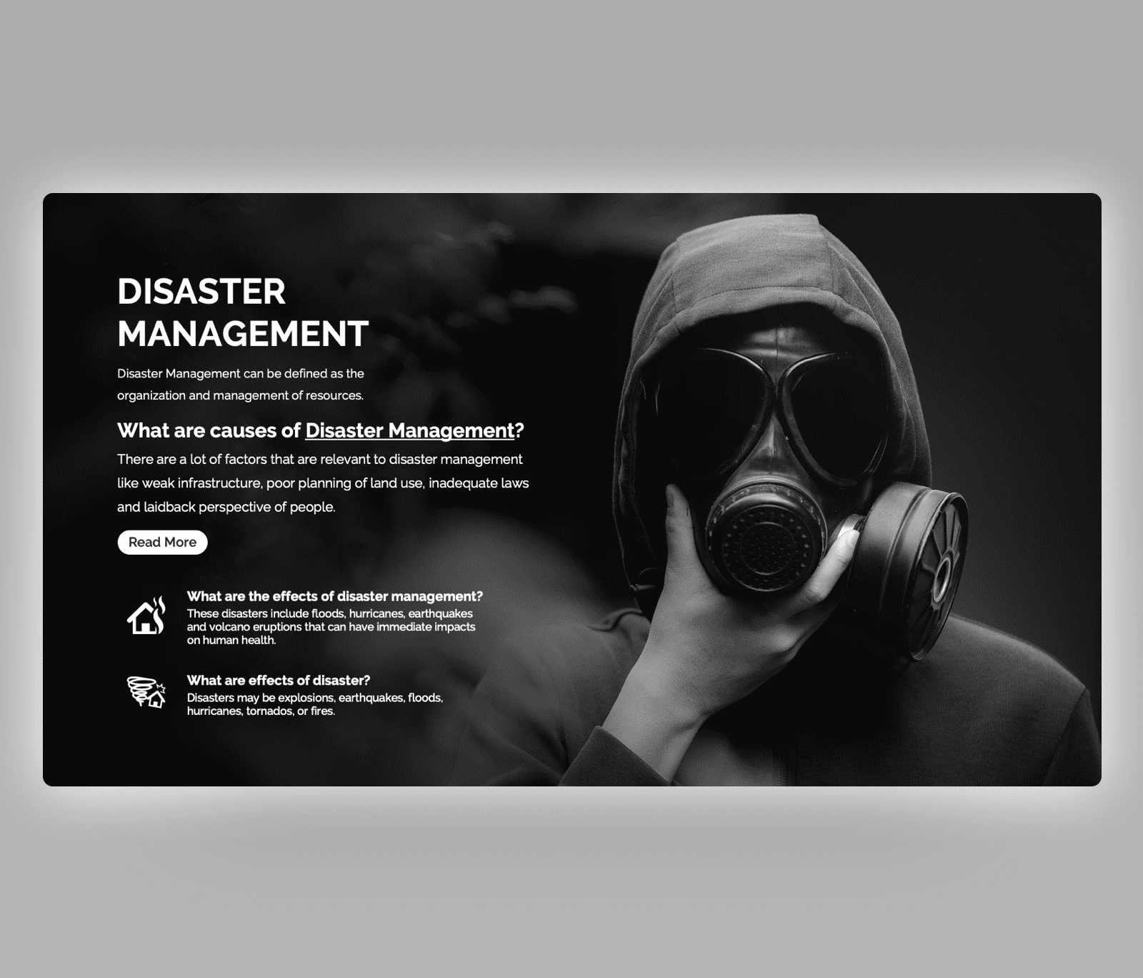 Free Disaster Management PowerPoint Template