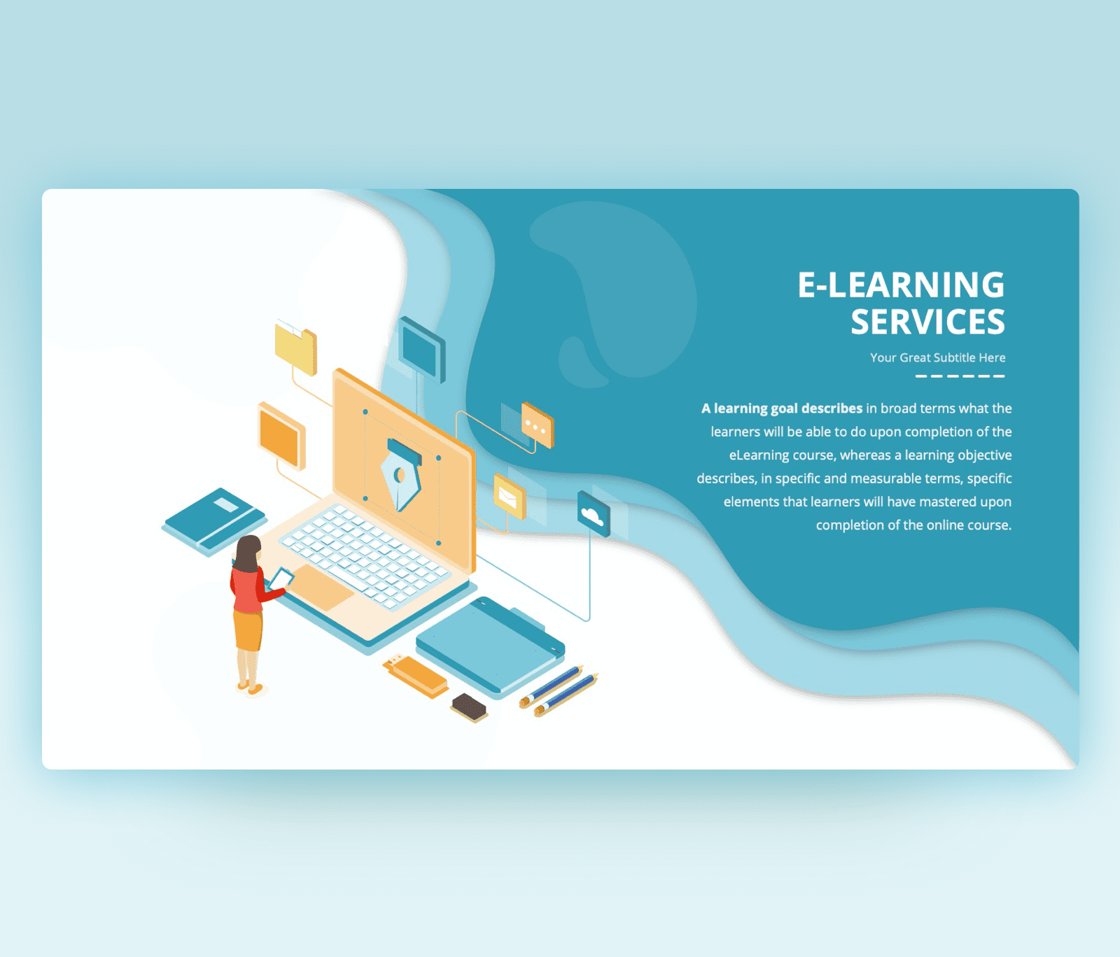 E-Learning Services PowerPoint PPT Template