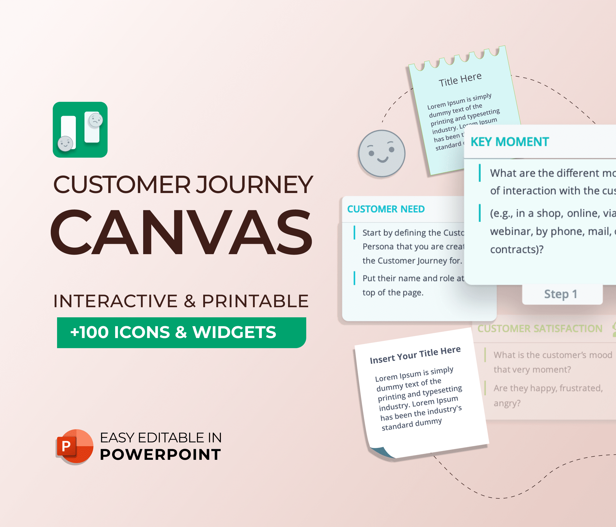 Customer Journey Canvas PowerPoint Presentation Template