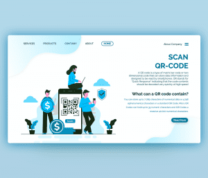 Scan QR Code PowerPoint Template Free Download