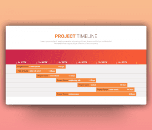 Free Weekly Project Timeline PowerPoint Template