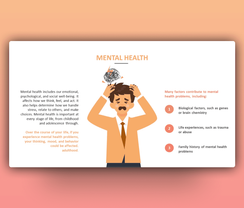 Mental Health Problems PowerPoint Template
